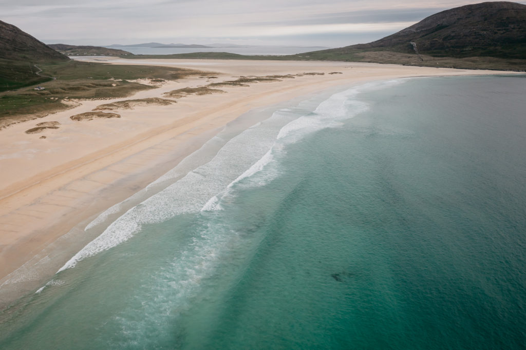 Scarista beach by drone, Isle of Harris, Outer Hebrides