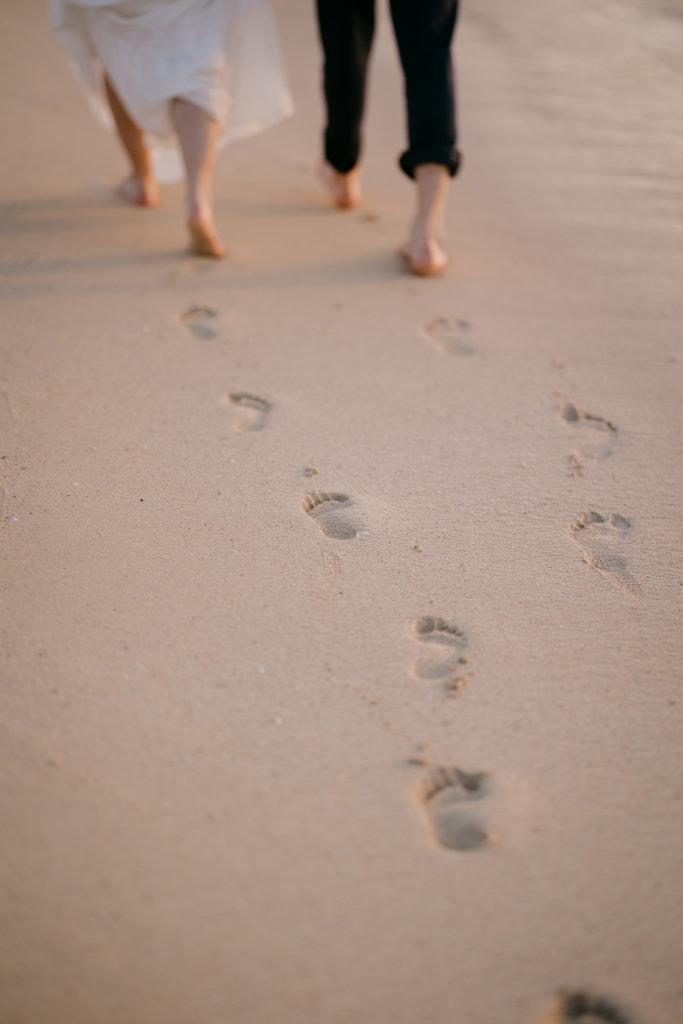 Footprints on the beach Isle of Harris