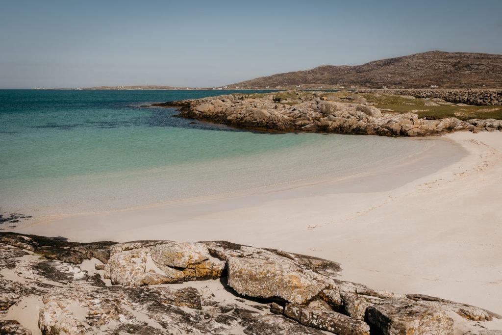 White sand beach Outer Hebrides