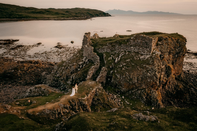 Isle of Skye castle elopement