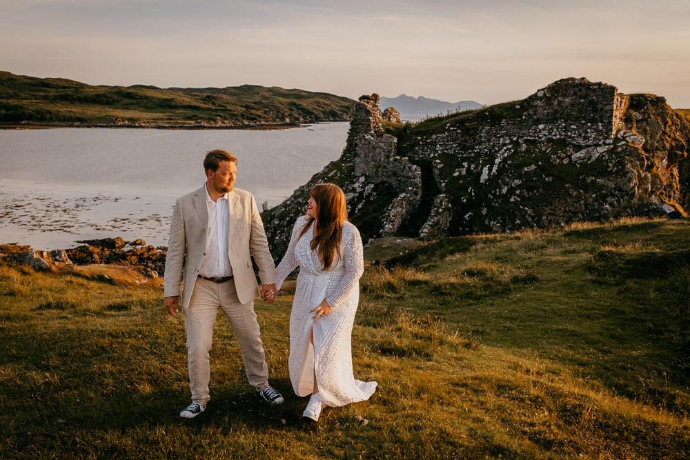 Isle of Skye elopement at sunset