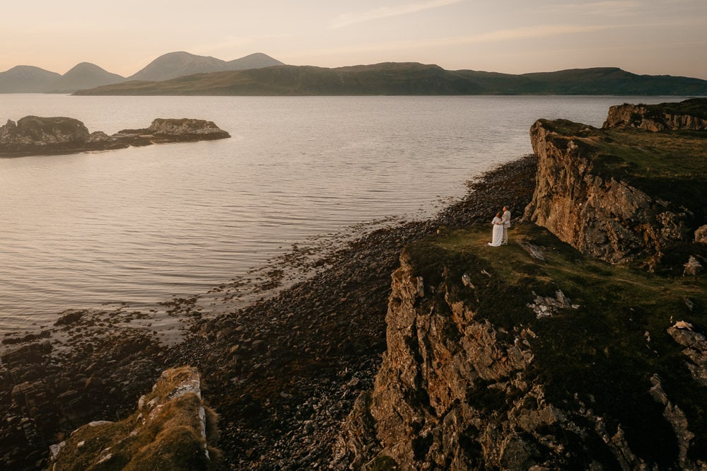 Isle of Skye clifftop elopement