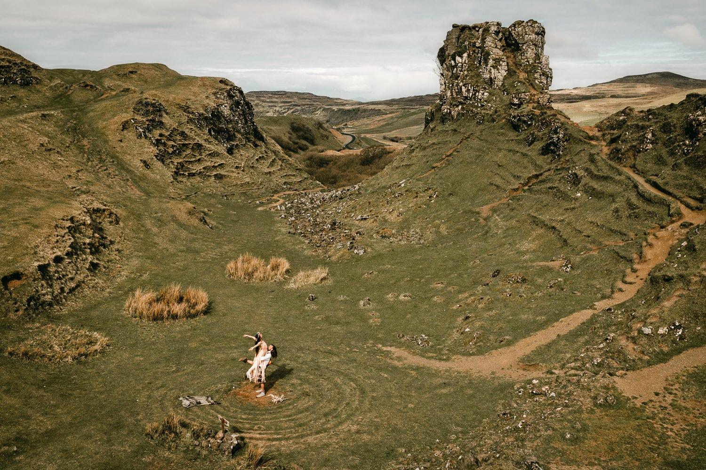 Isle of Skye elopement Fairy Glen