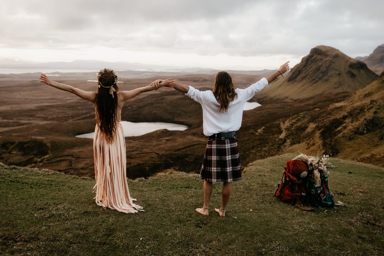 Isle of Skye elopement Quiraing