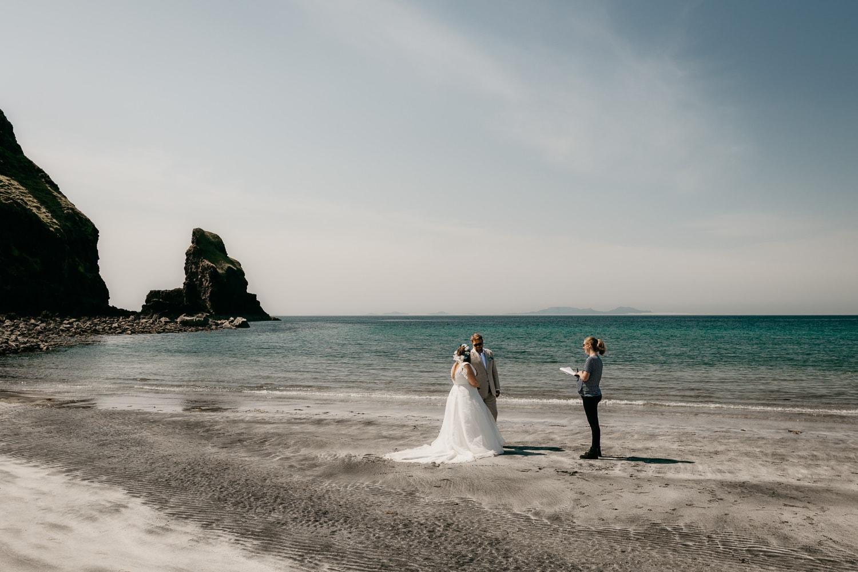 Talisker beach Isle of Skye elopement