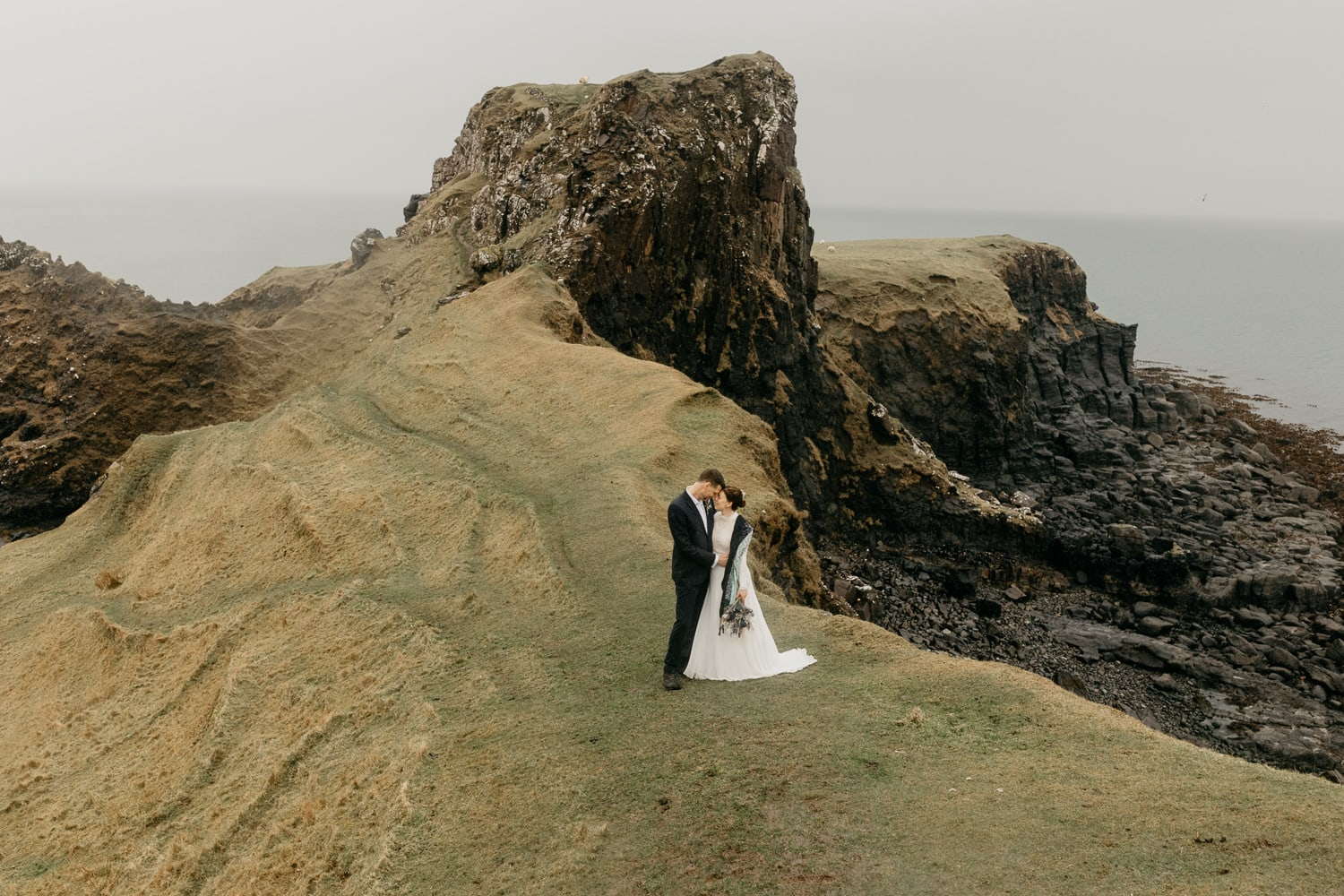 Isle of Skye elopement Brothers Point